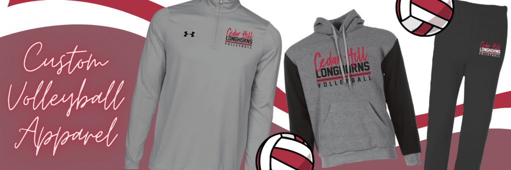 Custom Volleyball Apparel, Custom Volleyball Quarter Zip Up Pullover, Custom Volleyball Sportie Hoodie, Custom Volleyball Sweatpants