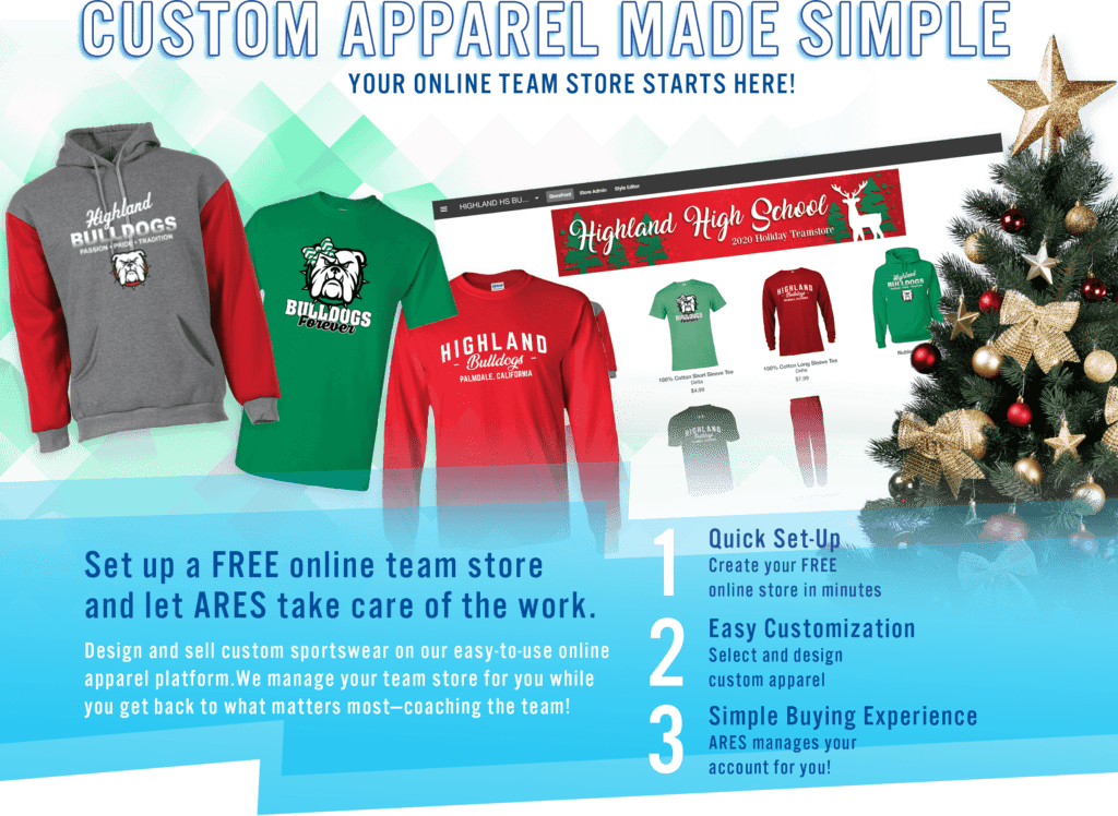 custom apparel during the Holiday Season is a busy time of year for ARES Sportswear