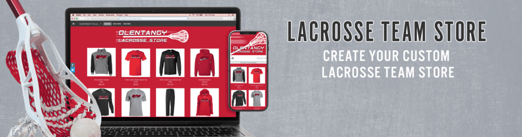 lacrosse custom apparel and spirit wear is popular within ARES Sportswear's online store this time of year