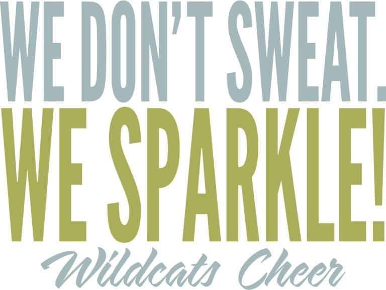 We don't sweat. We Sparkle! Wildcat Cheer