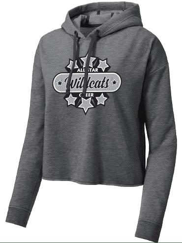 Sport-Tek ® Ladies PosiCharge ® Tri-Blend Wicking Fleece Crop Hooded Pullover