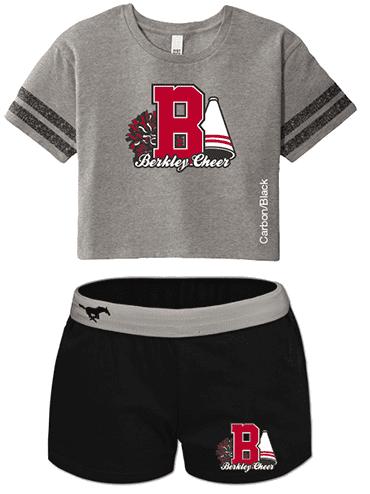 Scorecard Crop Tee & Cheer Shorts