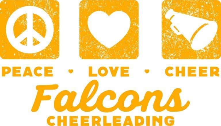 Peace Love Cheer Falcons Cheerleading