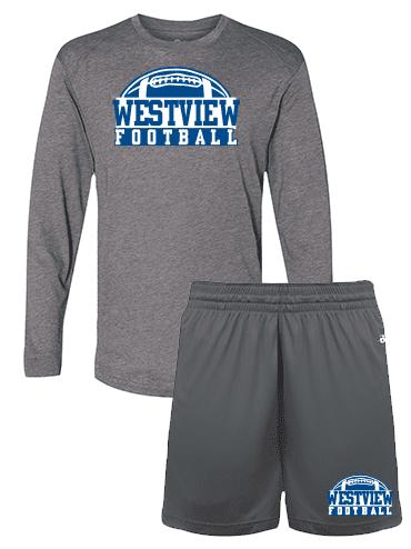 Set Deal Long Sleeve Tee and Shorts Football